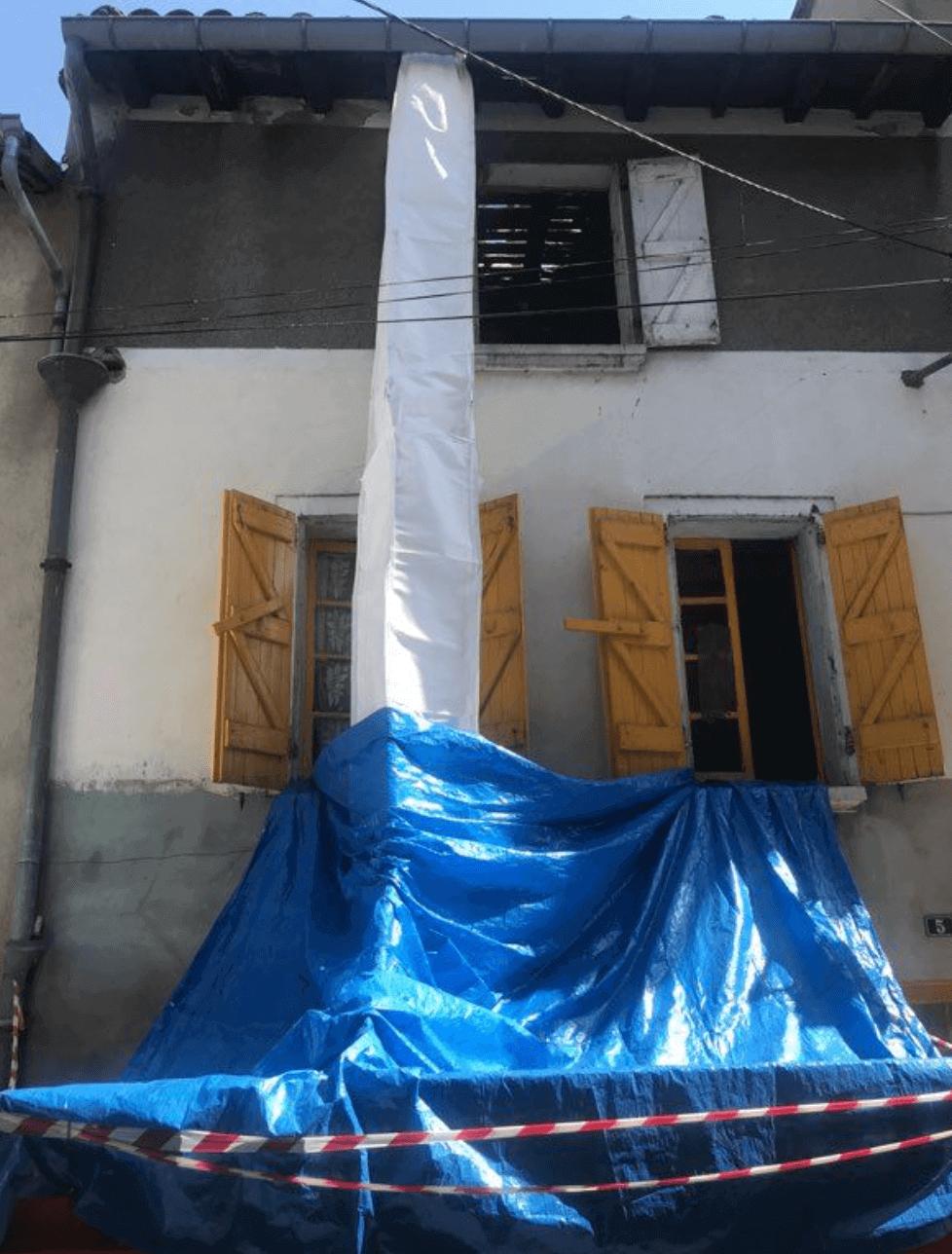 Goulotte de chantier